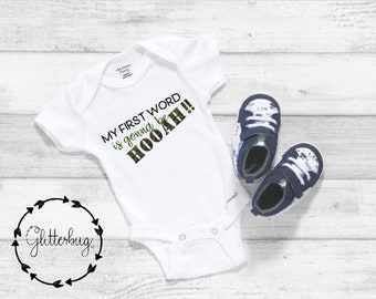 ARMY STRONG One piece Body Suit  Great Baby Shower Gift