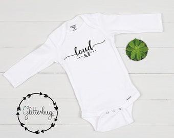 TooLoud DAD Acronym Baby Romper Bodysuit