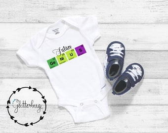 Periodic Table // Elements // Gift 7 Colours Babgrow // Bodysuit Cute Element