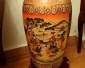 Vase Japanese Antique Japan Vintage Cloisonne Satsuma Enamel Meiji Signed Porcelain Hand Painted Pair Pottery Fine 3 1 Period Tall