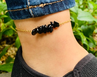 Anklets Black Lava Brown Leather Triple Wrap Bracelet/anklet In Pain