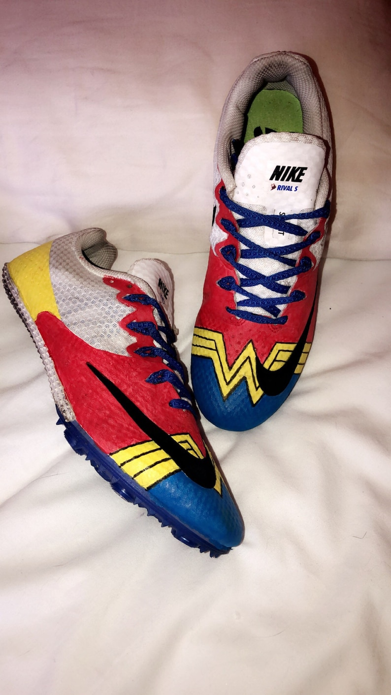 8de6cf18948b Hand painted Custom shoes wonderwoman trackandfield