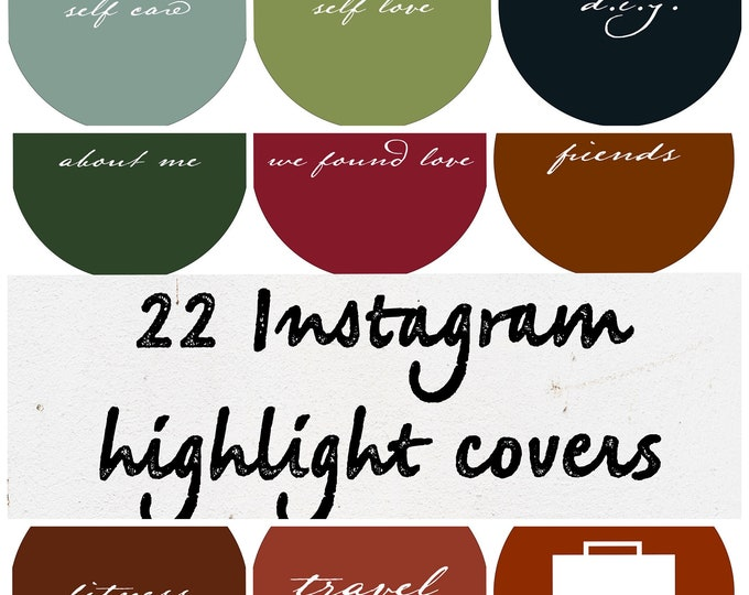 22 Instagram Story Highlight Covers- Simple and Trendy