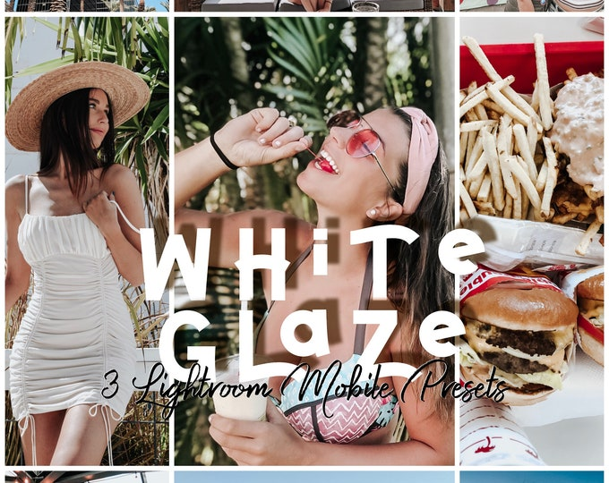 White Glaze • 3 Lightroom Mobile Presets