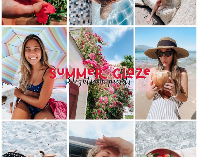 Summer Glaze • 3 Lightroom Mobile Presets