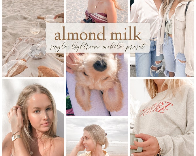 Almond Milk - Single Lightroom Mobile Preset