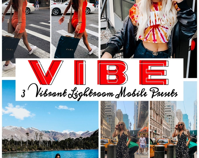 VIBE// Three Vibrant and Adjustable Lightroom Mobile Presets