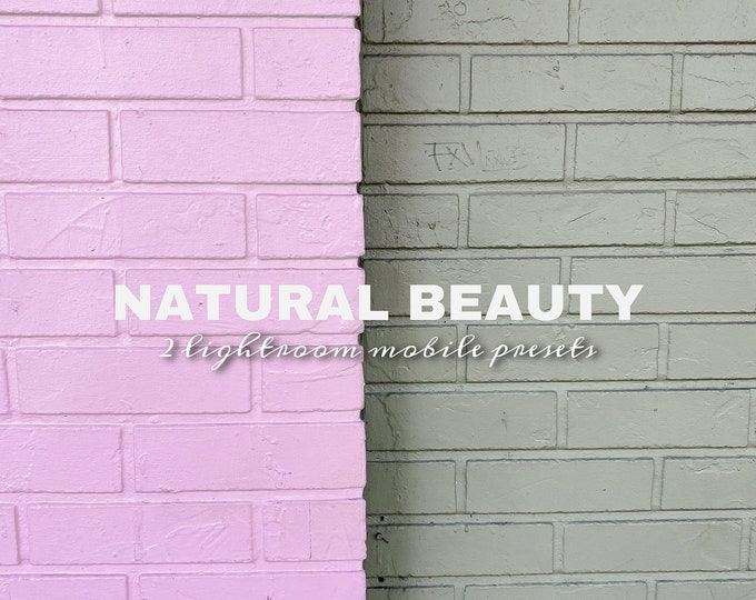Natural Beauty • Lightroom Mobile Presets (set of 2)