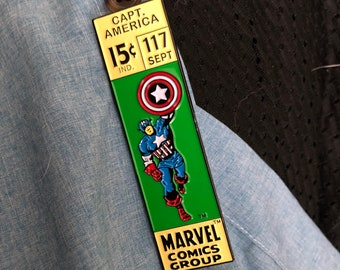 115caaf2b2 Captain America enamel pin classic Marvel price box!