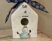 Snowman decal for birdhouse