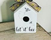 Rae Dunn inspired birdhouse decal