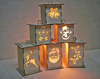 Christmas Lantern SVG, Laser Cutting File. Winter SVG