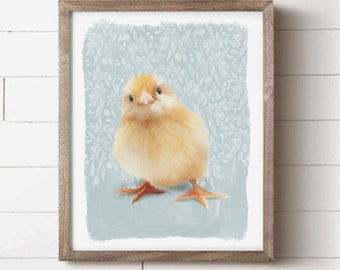 SUMMER SALE Wooden large chick chicken easter spring blank farmhouse art supply