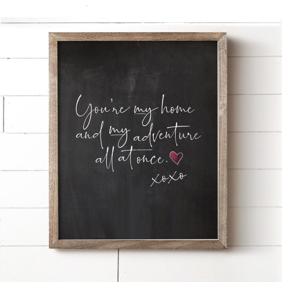 Awesome Youre My Home Art Print Quote Prints Chalkboard Art Bedroom Art Wall Decor Art For Her Love Art Prints Home Decor Prints Download Free Architecture Designs Grimeyleaguecom