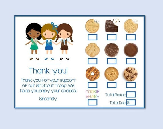 INSTANT DOWNLOAD Printable ABC Bakers Scout Cookies Receipt Order on pa girl scout cookie form, crazy about cookies order form, printable girl scout cookie form, girl scout cookie pick up form, girl scouts cookie permission form, scout permission slips, girl scout cookie receipt form, girl scout order form,