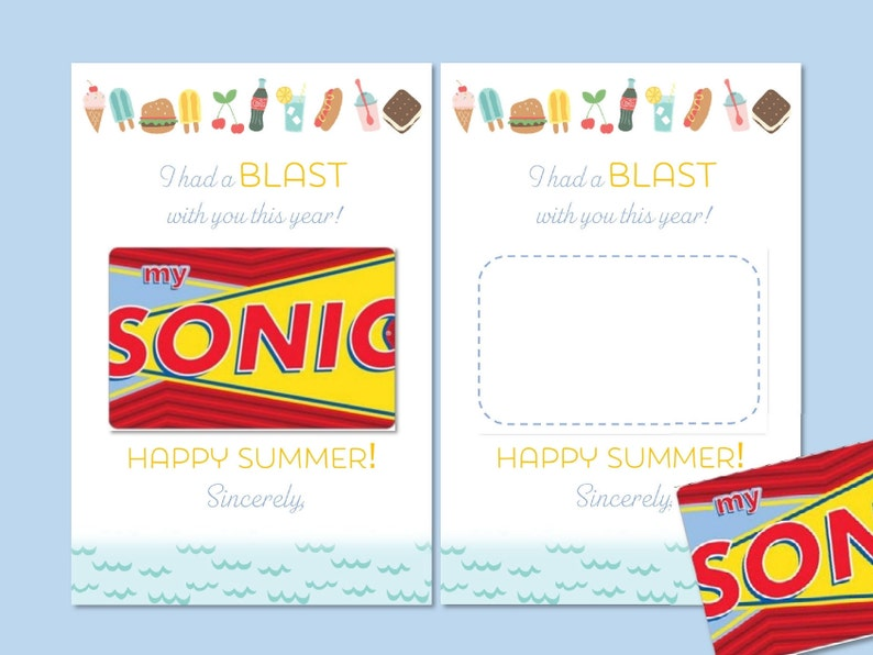 photo about Sonic Gift Card Printable referred to as Fast Obtain \