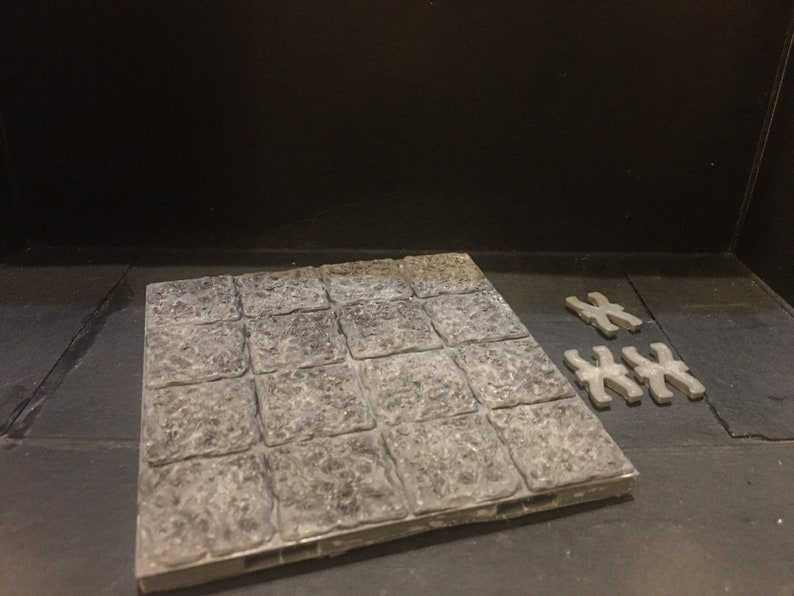 graphic about 3d Printable Dungeon Tiles known as 3D posted painted 4x4 dungeon tile dragonlock