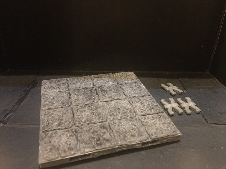 graphic relating to 3d Printable Dungeon Tiles titled 3D revealed painted 4x4 dungeon tile dragonlock