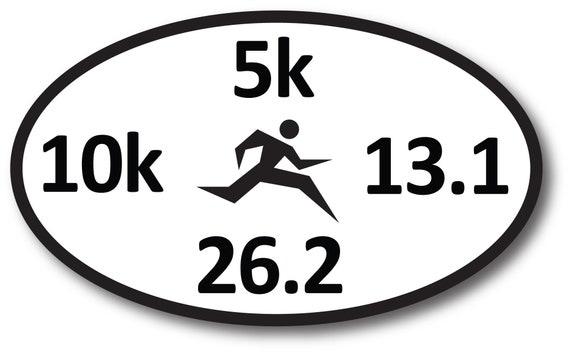 """26.2 Marathon Decal Sticker Runner Logo Run *Brand NEW Design 5/"""""""