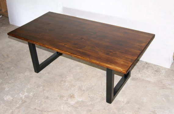 Low Coffee Table Metal Table Legs Industrial Coffee Table Etsy