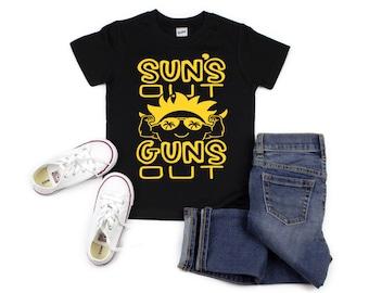 finest selection 9832b 99bd8 Suns Out Guns Out, Summer Tank Top, Beach Tank Top, Kid s Summer T-Shirt,  Kid s Tank Top, Suns Out Guns Out Boys T-Shirt, Boys Muscle Tank
