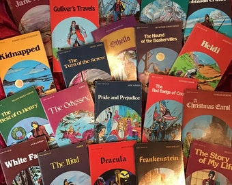Assortment of Vintage Illustrated Pocket Classics-Your Choice