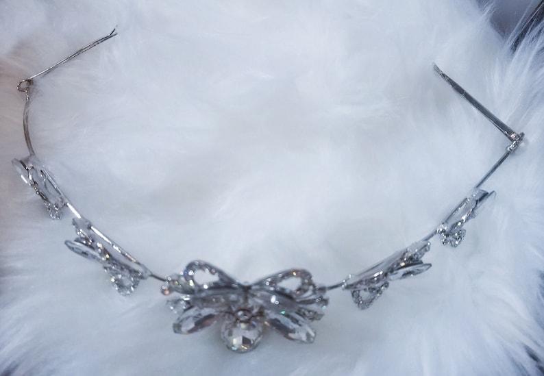 Bridal Headband Crystal Wedding Headband Bridal Headpiece Simple Vintage Head Band, Bridal Hair Accessories Bridal Headband