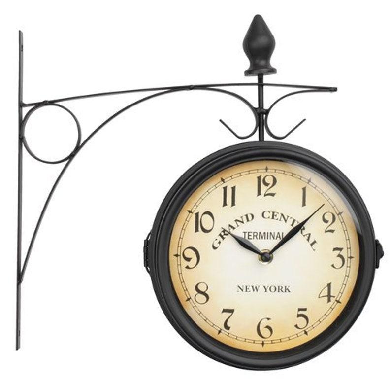 Wall clock Clock vintage Retro wall clock.Unique wall clock.Metal clock.Wall clock metal retro effect