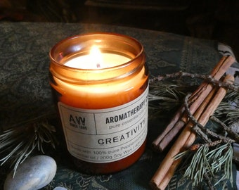 A Blend for Creativity - Luxury Hand-Poured Aromatherapy Essential Oil Candle - 40 hours