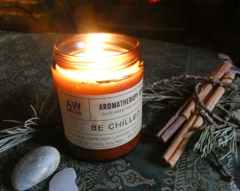 A Blend for Chilling - Luxury Hand-Poured Aromatherapy Essential Oil Candle - 40 hours