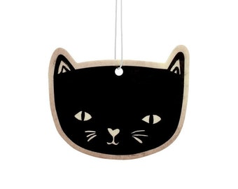 Black Cat Vanilla Scented Air Freshener
