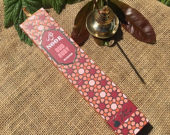 Noor - Oud Ruby Incense Sticks - 15g