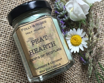 Peat Hearth Candle - Scents of Scotland Collection - 2oz Jar