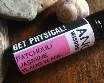 Essential Oil Roll On - Get Physical Blend - Patchouli - Jasmine - Ylang Ylang