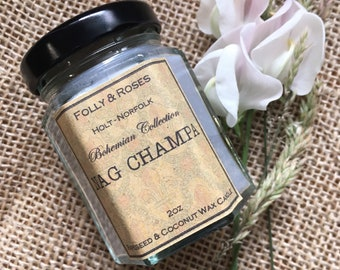 Nag Champa Natural Wax Candle - 2oz Container - Bohemian Collection