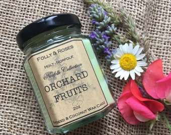 Orchard Fruits - Norfolk Collection Soy Wax - 2oz Candle Jar 22 hour burn