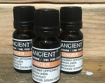 Ginger Essential Oil - 10ml Bottle