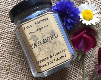 Tailored - Folly Favourites Collection Soy Wax - 2oz Candle Jar 22 hour burn