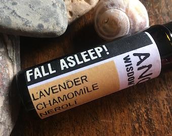 Essential Oil Roll On - Fall Asleep Blend - Lavender - Chamomile - Neroli
