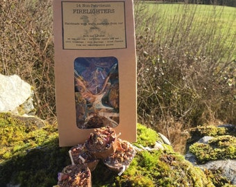 20 Eco-Friendly Firelighters - non-petroleum and made from natural and waste materials