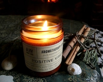A Blend for Positive Vibes - Luxury Hand-Poured Aromatherapy Essential Oil Candle - 40 hours