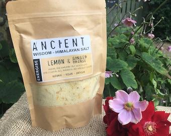 Energise - Lemon, Ginger & Orange Himalayan Bath Salts Blend
