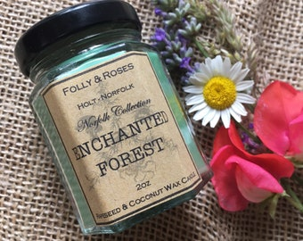 Enchanted Forest - Norfolk Collection Natural  Wax - 2oz Candle Jar 22 hour burn