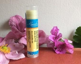 Unflavoured  Shea Butter Herbal Lip Balm - by Kuumba Made