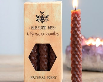 Brown Beeswax Ritual Candles for Spellwork and Manifestation - Earth Magick