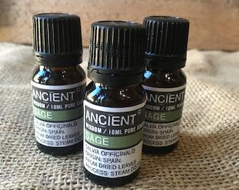 Sage Essential Oil - 10ml Bottle