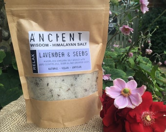 Relax - Lavender and Seeds Himalayan Bath Salts Blend