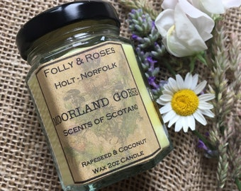 Moorland Gorse Candle - Scents of Scotland Collection - Natural Wax 2oz