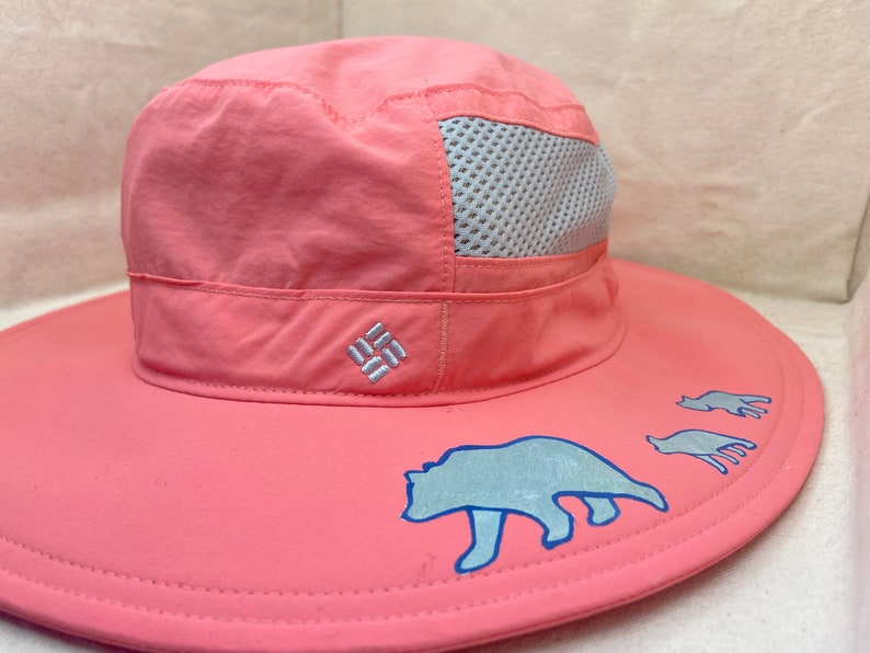 Hand Painted Hat Momma Bear and Cubs