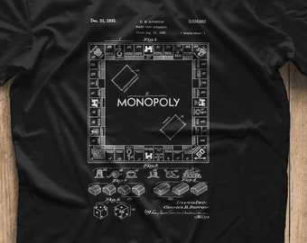 f4959153 Monopoly Game 1935 Patent T-shirt , Hasbro, Board Game, Business, Game,  Games, Cool Gift, unique gift!
